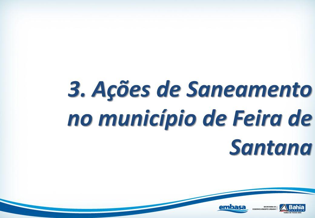 3. Ações de Saneamento no município de Feira de Santana
