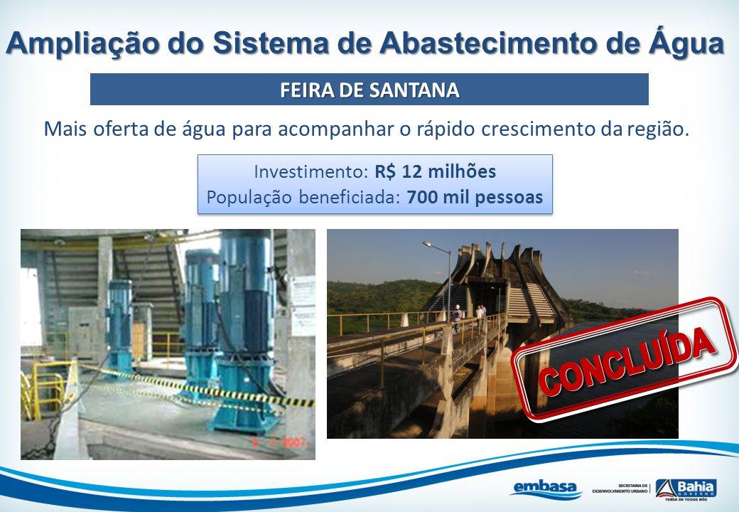 CONCLUÍDA Ampliação do Sistema de Abastecimento de Água