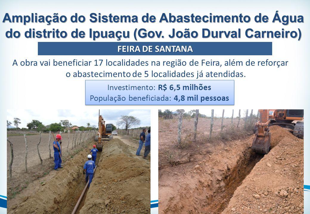 Ampliação do Sistema de Abastecimento de Água do distrito de Ipuaçu (Gov. João Durval Carneiro)