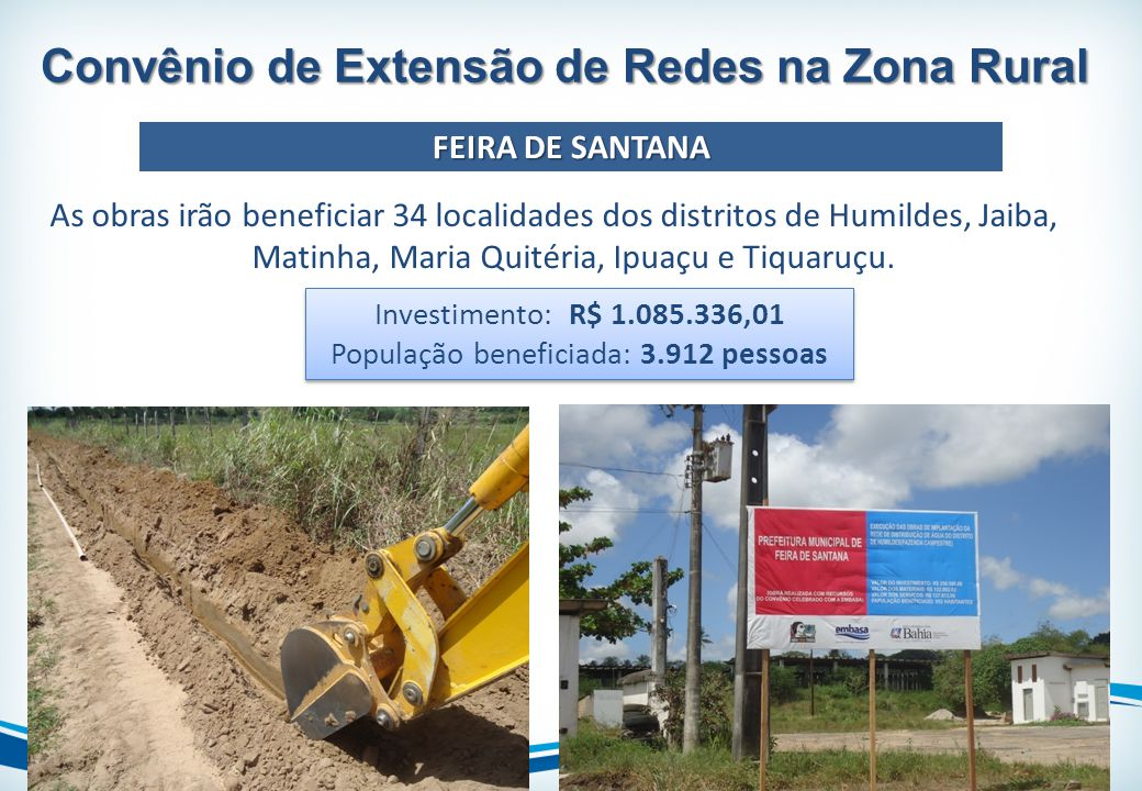 Convênio de Extensão de Redes na Zona Rural