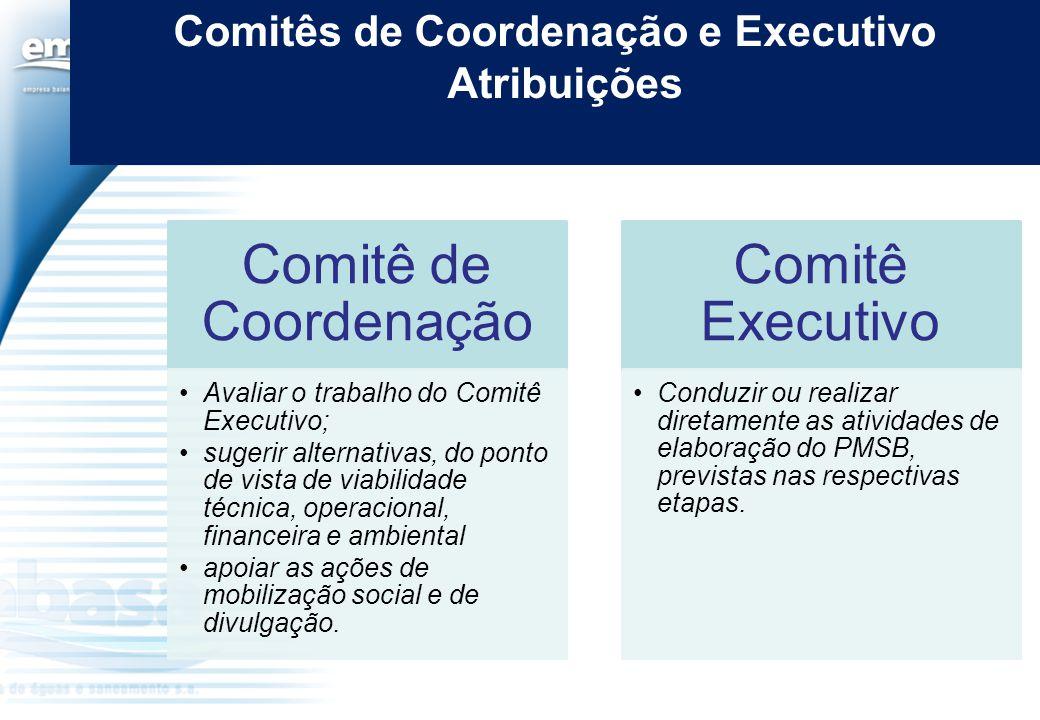 Comitês de Coordenação e Executivo
