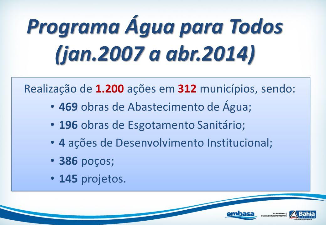 Programa Água para Todos (jan.2007 a abr.2014)