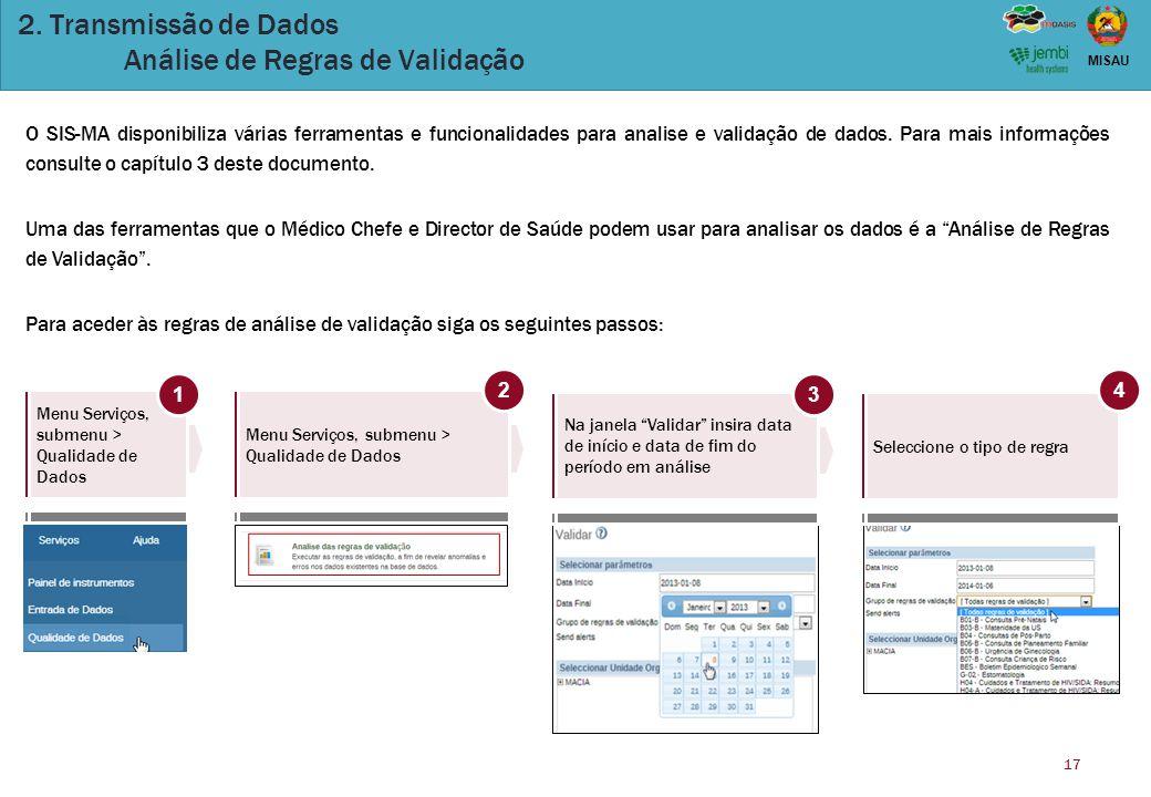 2. Transmissão de Dados Análise de Regras de Validação