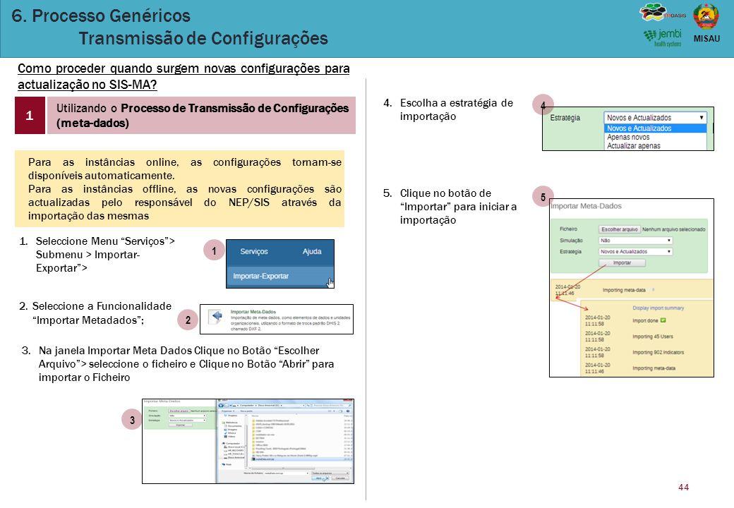 6. Processo Genéricos Transmissão de Configurações