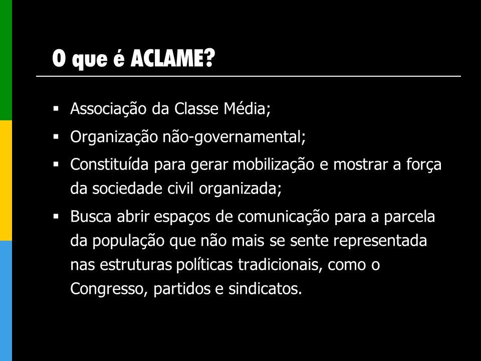 O que é ACLAME Associação da Classe Média;