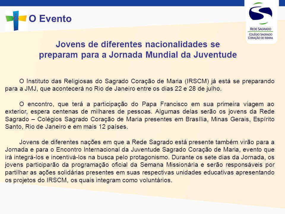 O Evento Jovens de diferentes nacionalidades se preparam para a Jornada Mundial da Juventude.