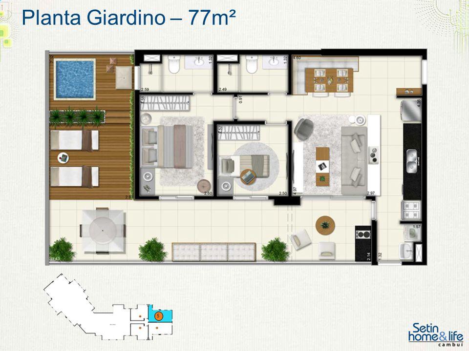 Planta Giardino – 77m² 5