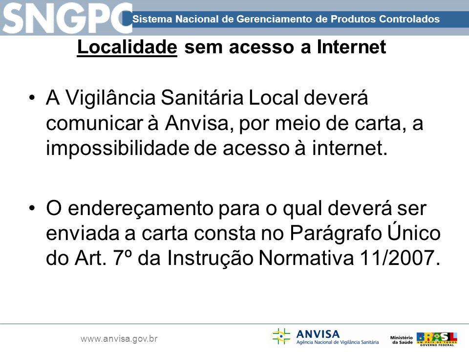 Localidade sem acesso a Internet