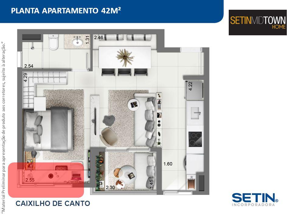 PLANTA APARTAMENTO 42M² CAIXILHO DE CANTO