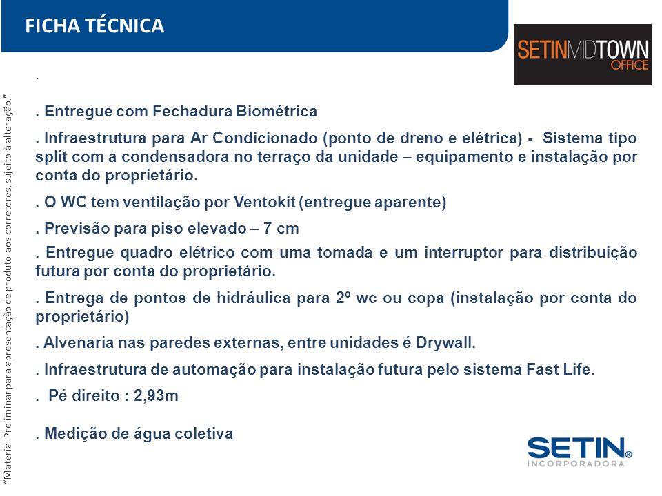 FICHA TÉCNICA . . Entregue com Fechadura Biométrica