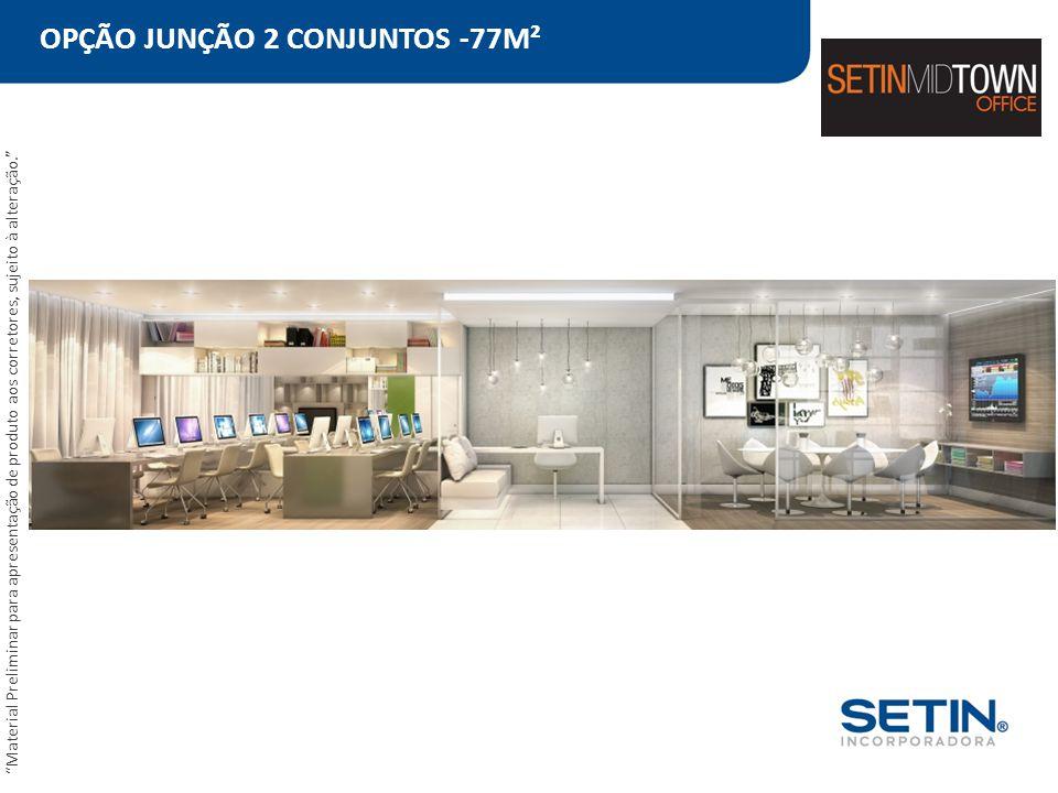 OPÇÃO JUNÇÃO 2 CONJUNTOS -77M²
