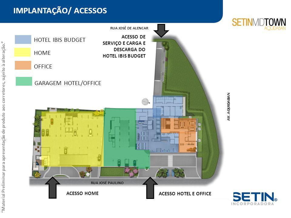 IMPLANTAÇÃO/ ACESSOS HOTEL IBIS BUDGET HOME OFFICE