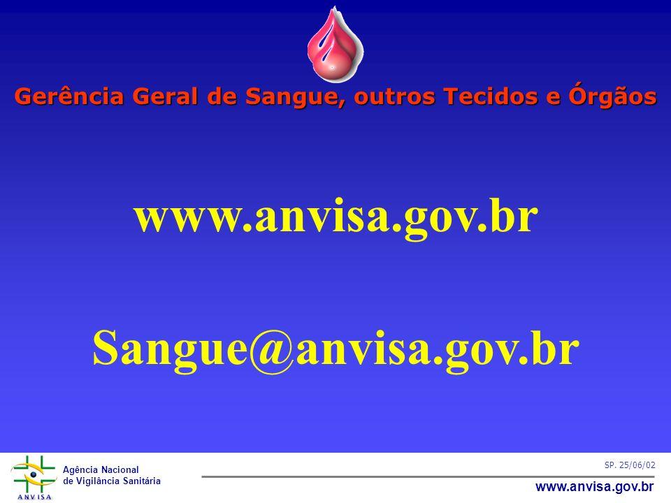 Gerência Geral de Sangue, outros Tecidos e Órgãos