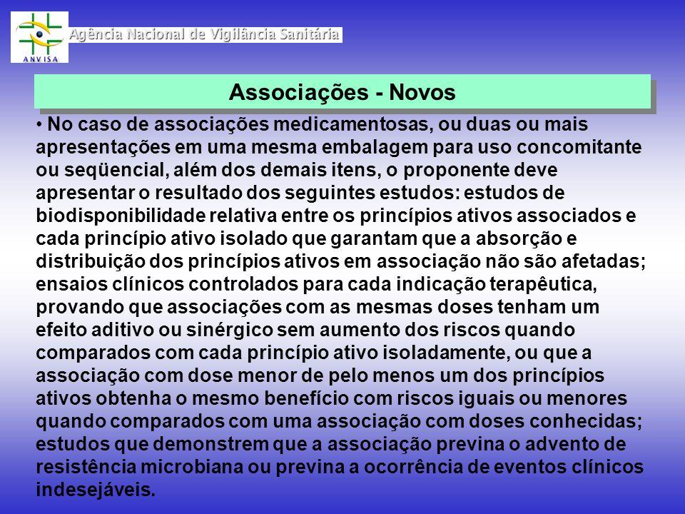 Associações - Novos