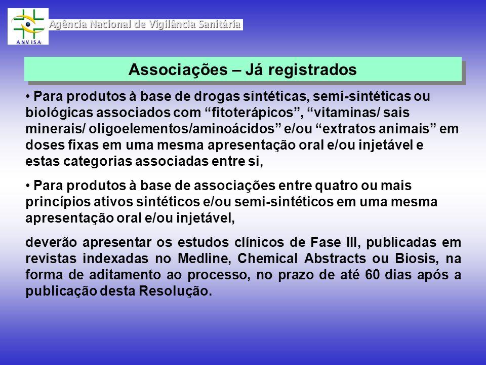 Associações – Já registrados