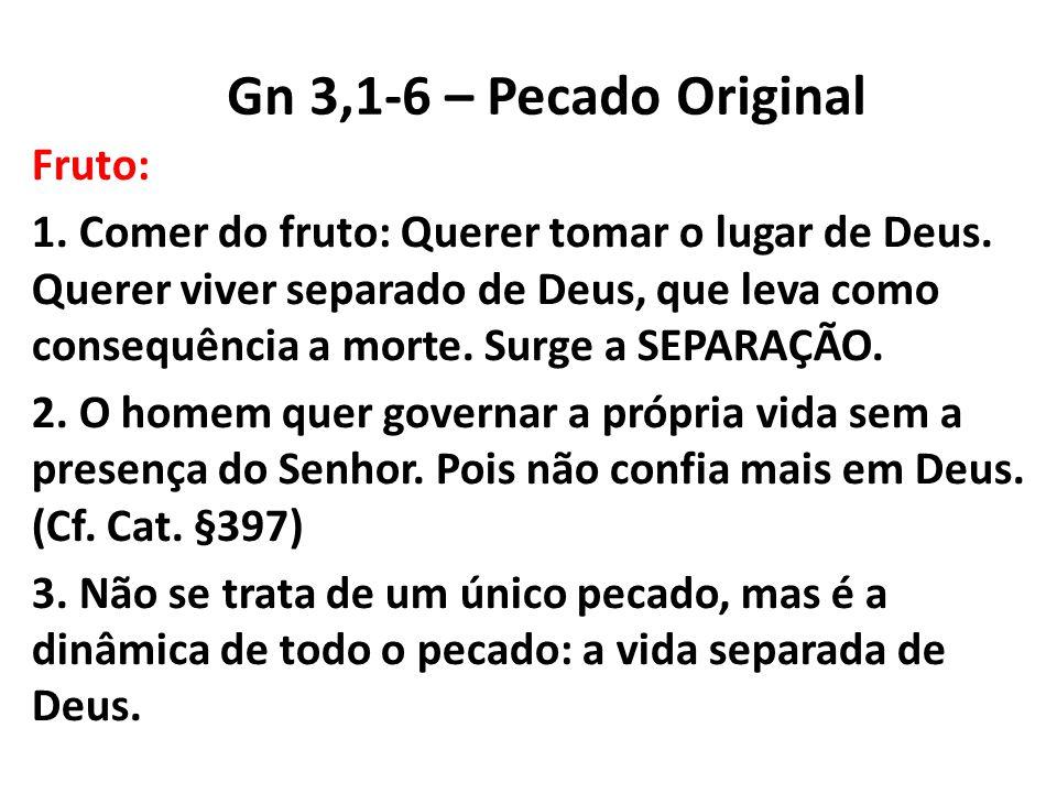 Gn 3,1-6 – Pecado Original