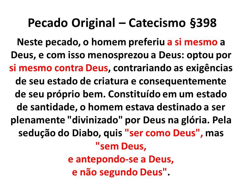 Pecado Original – Catecismo §398