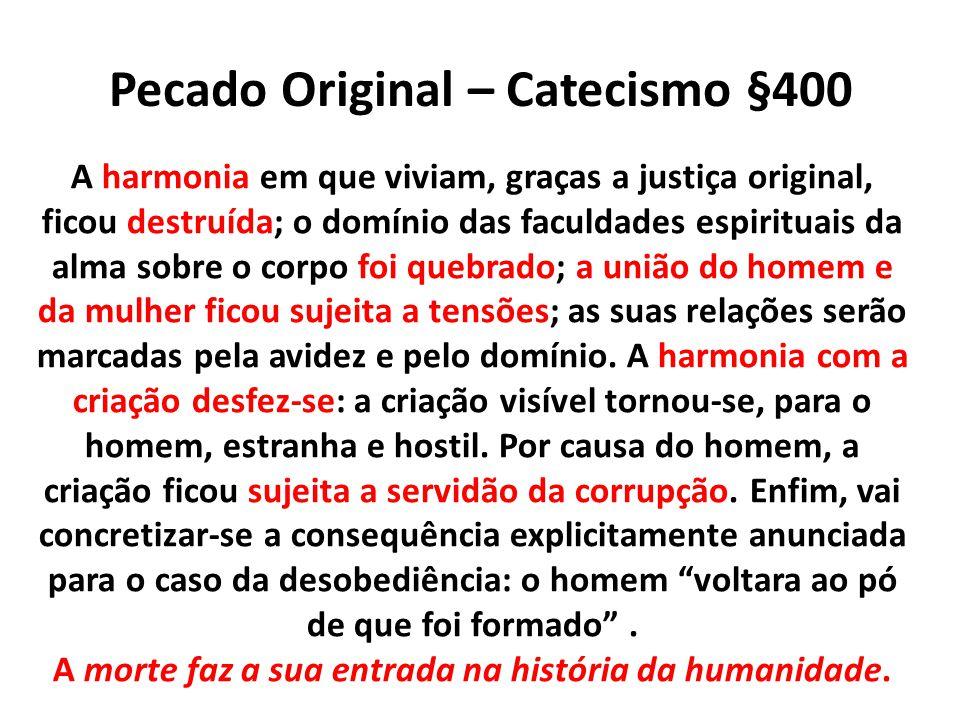 Pecado Original – Catecismo §400