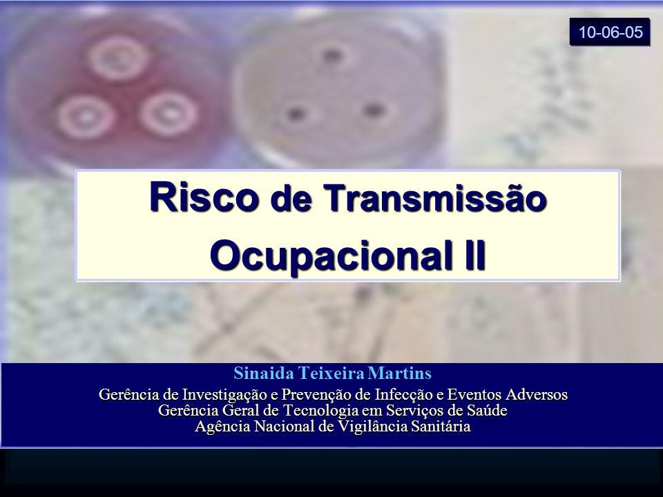 Risco de Transmissão Ocupacional II