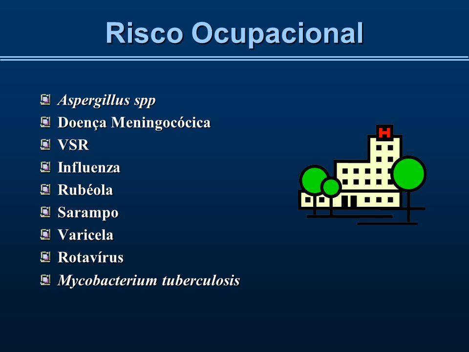 Risco Ocupacional Aspergillus spp Doença Meningocócica VSR Influenza