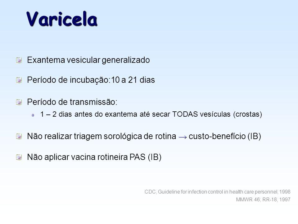 Varicela Exantema vesicular generalizado