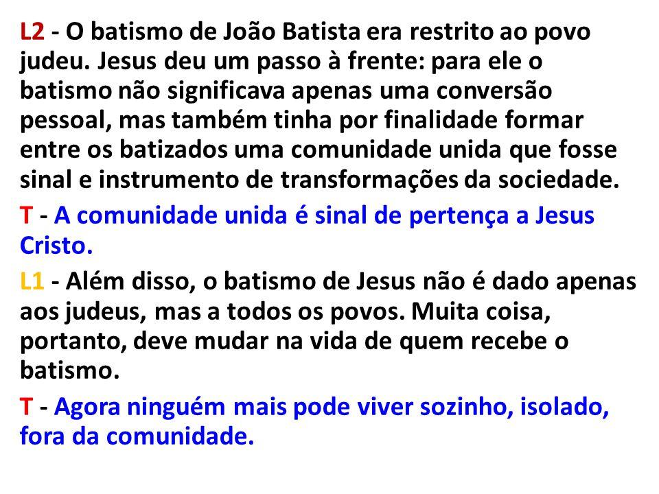 L2 - O batismo de João Batista era restrito ao povo judeu