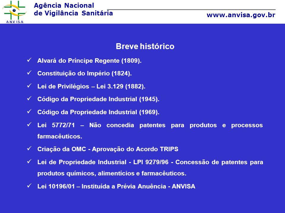 Breve histórico Alvará do Príncipe Regente (1809).