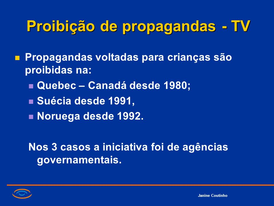 Proibição de propagandas - TV