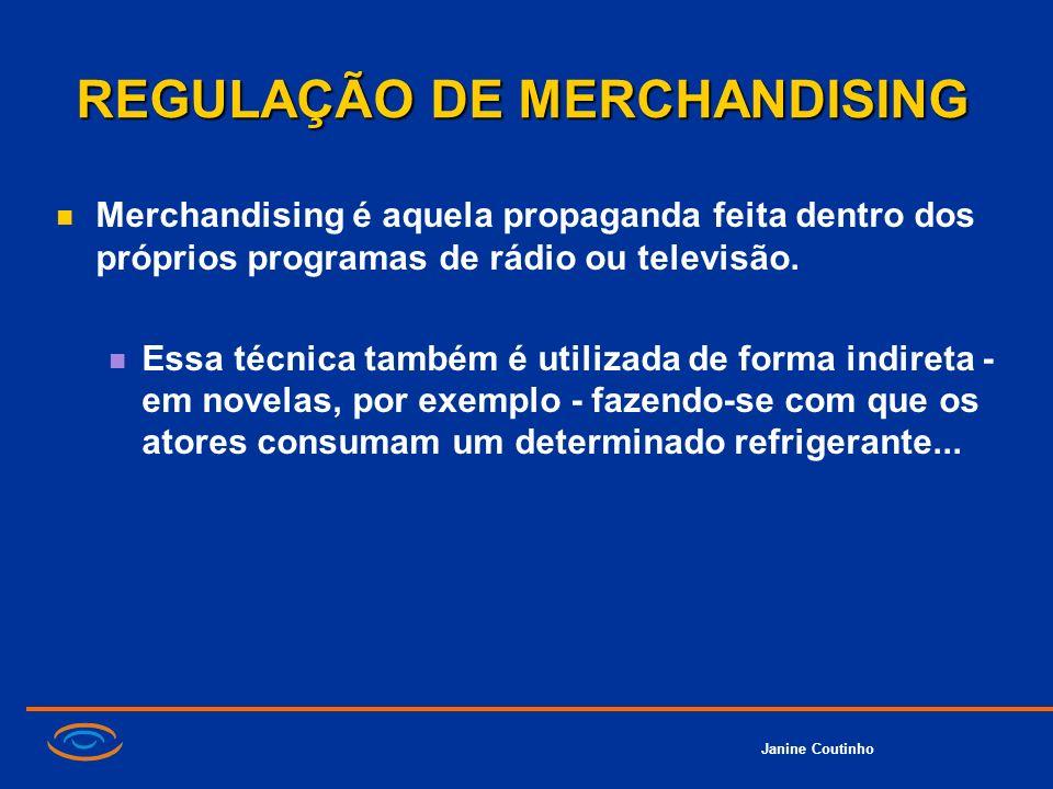 REGULAÇÃO DE MERCHANDISING