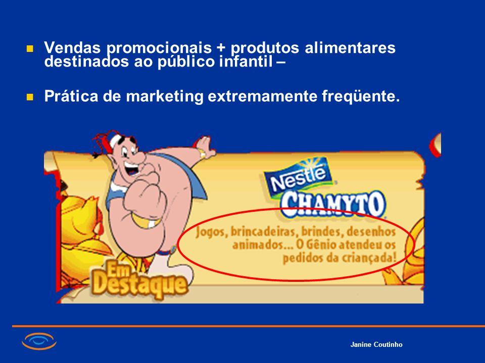Vendas promocionais + produtos alimentares destinados ao público infantil –