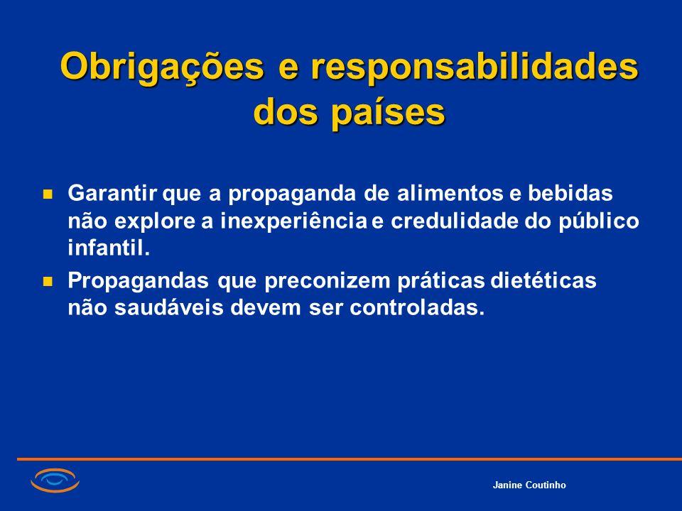 Obrigações e responsabilidades dos países