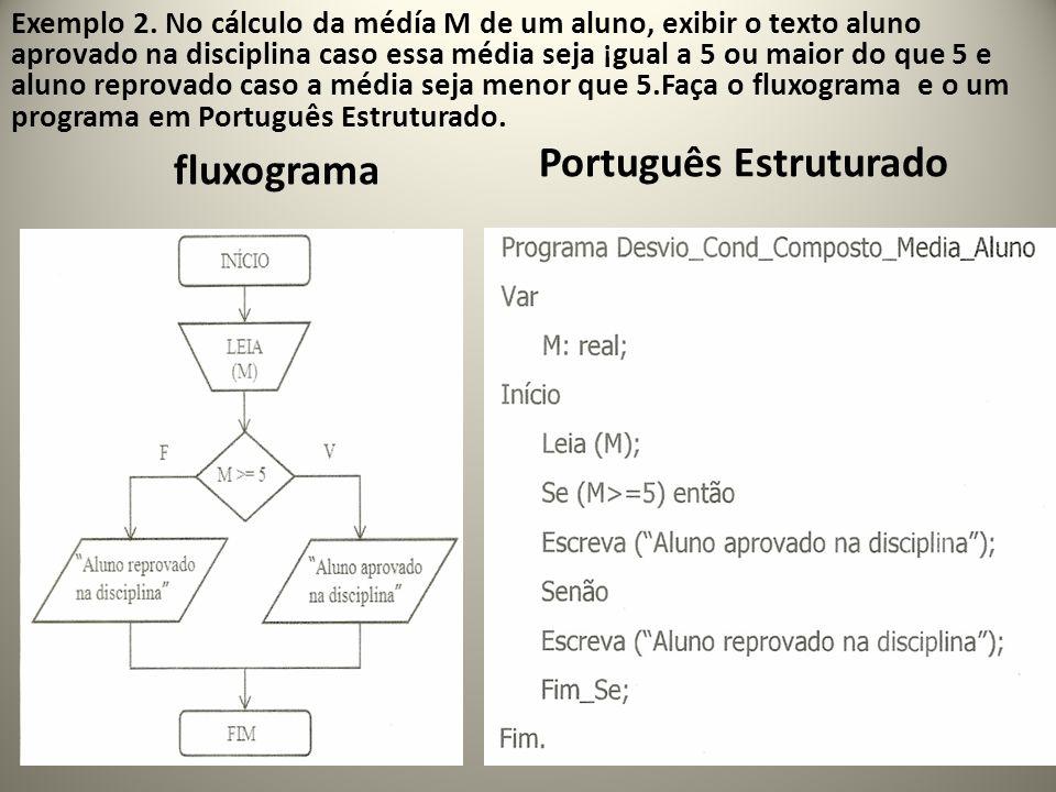 Português Estruturado fluxograma