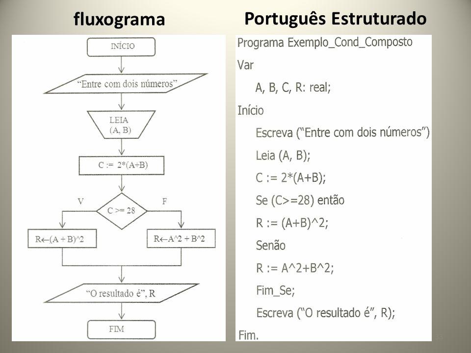 fluxograma Português Estruturado