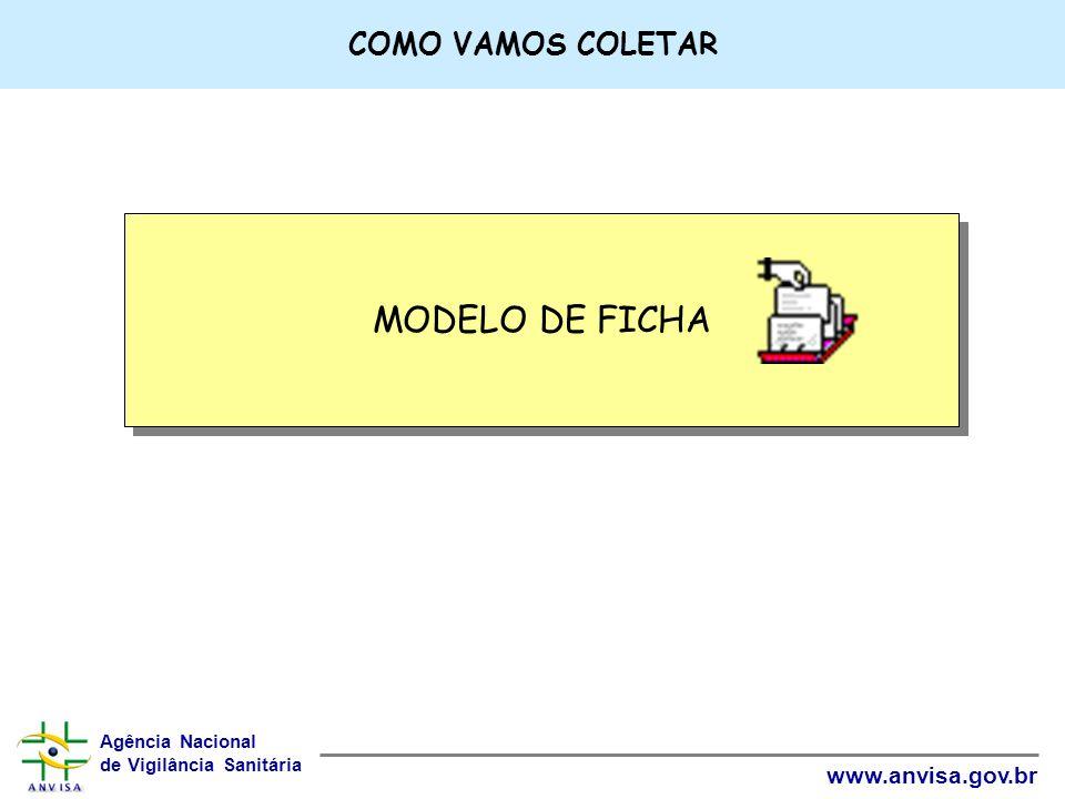 COMO VAMOS COLETAR MODELO DE FICHA