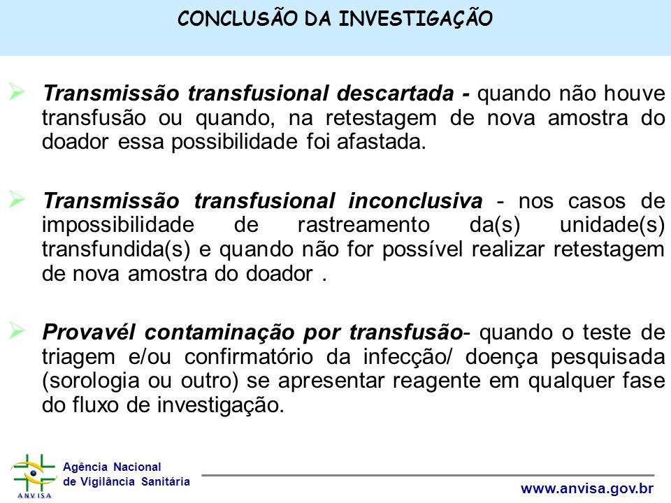 CONCLUSÃO DA INVESTIGAÇÃO