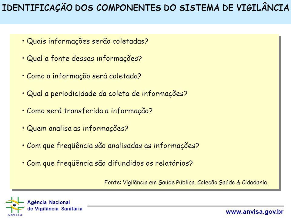IDENTIFICAÇÃO DOS COMPONENTES DO SISTEMA DE VIGILÂNCIA