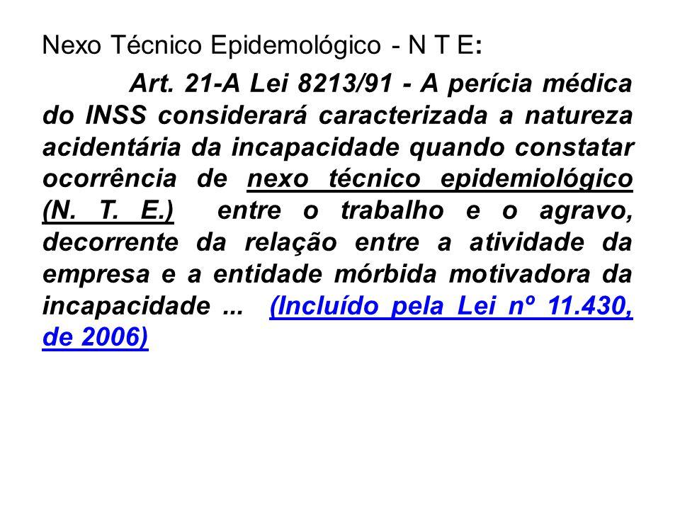 Nexo Técnico Epidemológico - N T E: