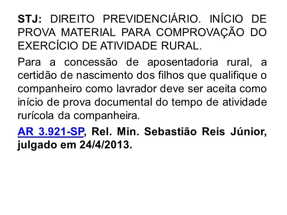STJ: DIREITO PREVIDENCIÁRIO