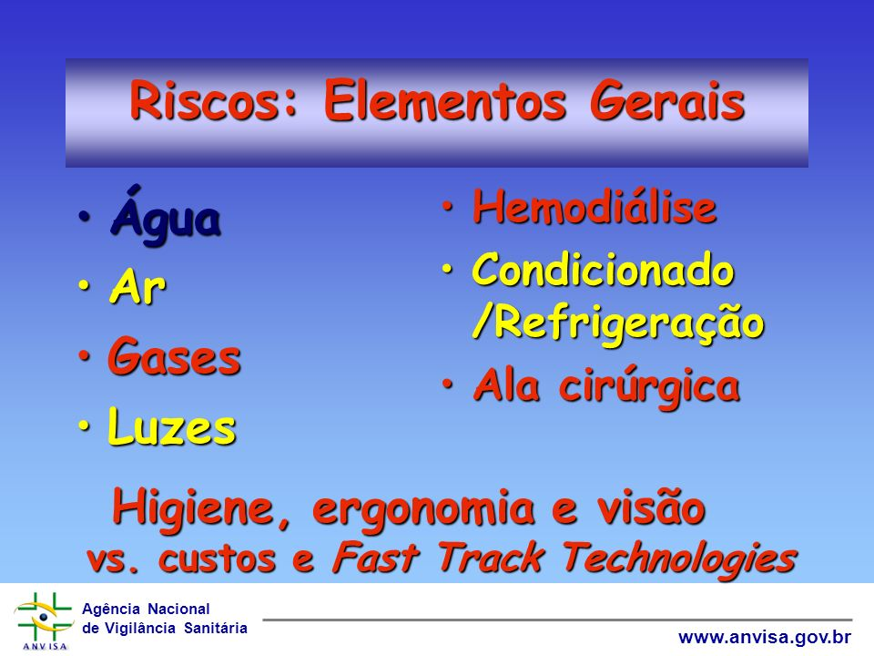Riscos: Elementos Gerais