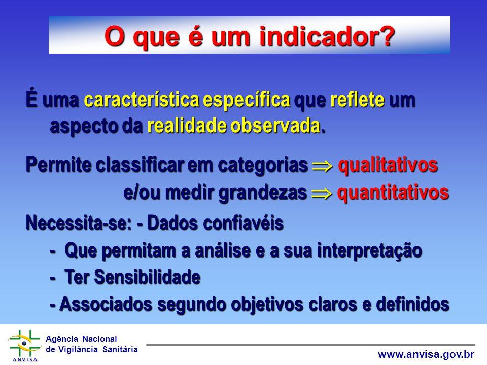 O que é um indicador É uma característica específica que reflete um aspecto da realidade observada.