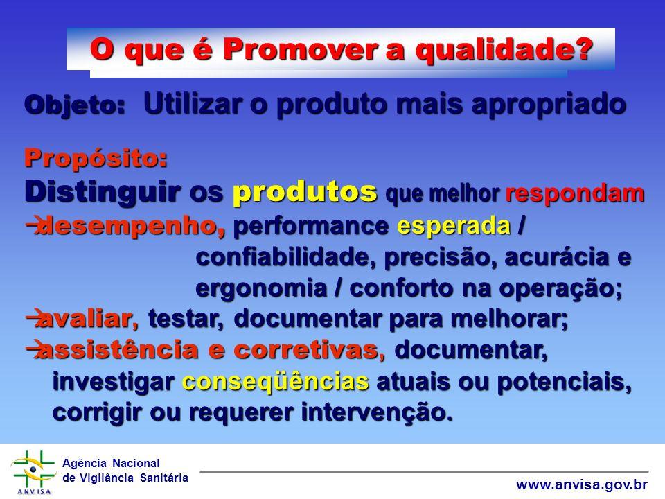 O que é Promover a qualidade