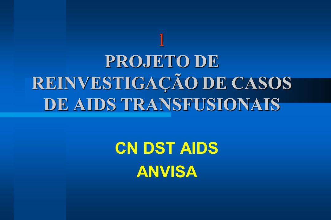 1 PROJETO DE REINVESTIGAÇÃO DE CASOS DE AIDS TRANSFUSIONAIS