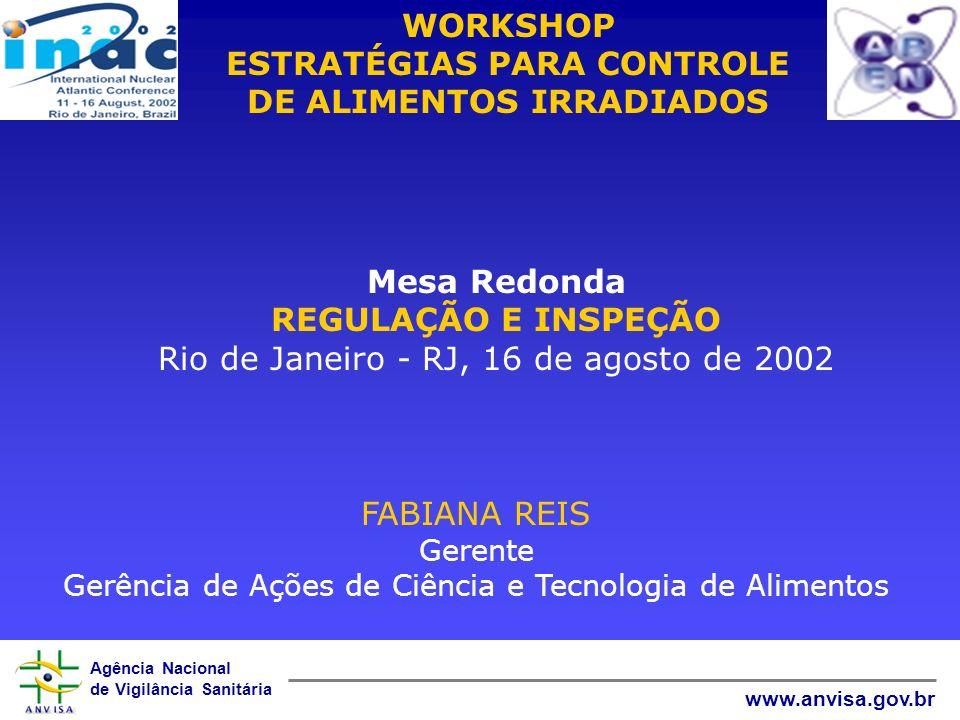 WORKSHOP ESTRATÉGIAS PARA CONTROLE DE ALIMENTOS IRRADIADOS