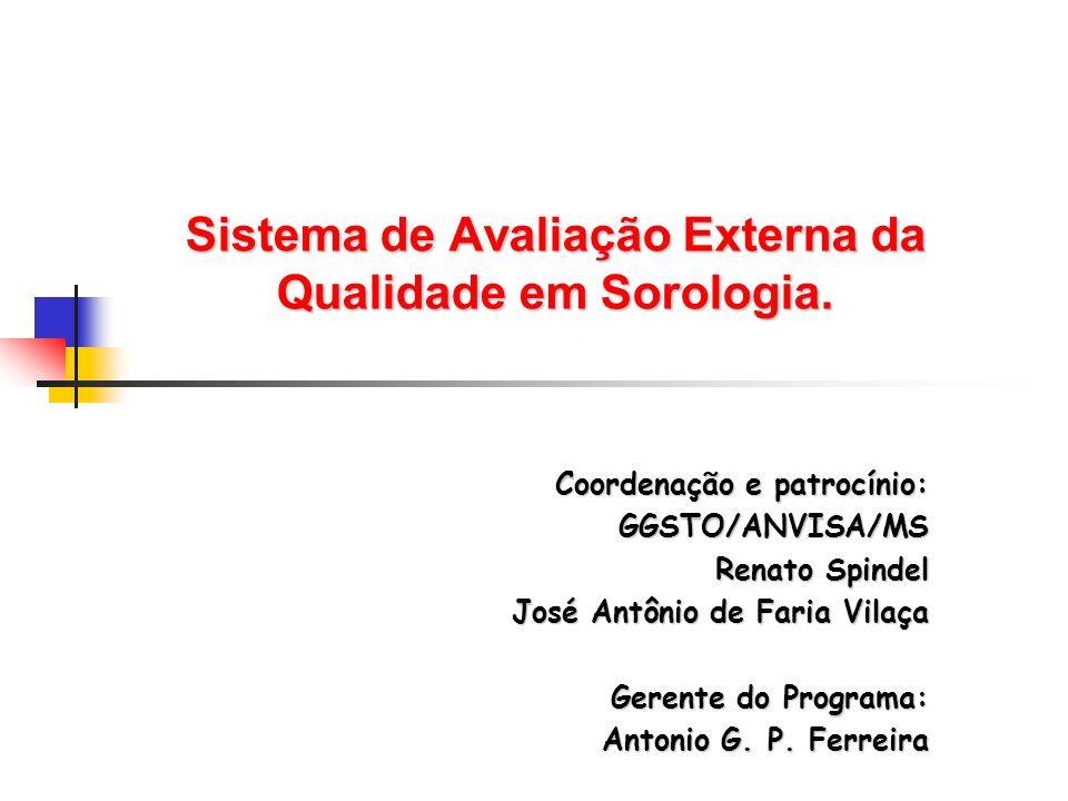 Sistema de Avaliação Externa da Qualidade em Sorologia.