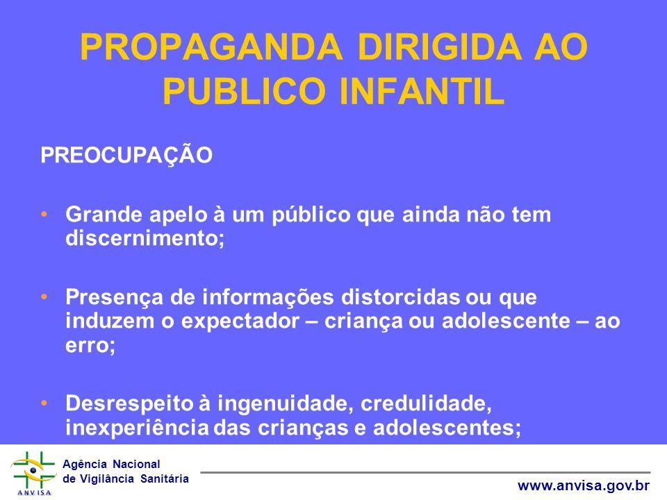 PROPAGANDA DIRIGIDA AO PUBLICO INFANTIL