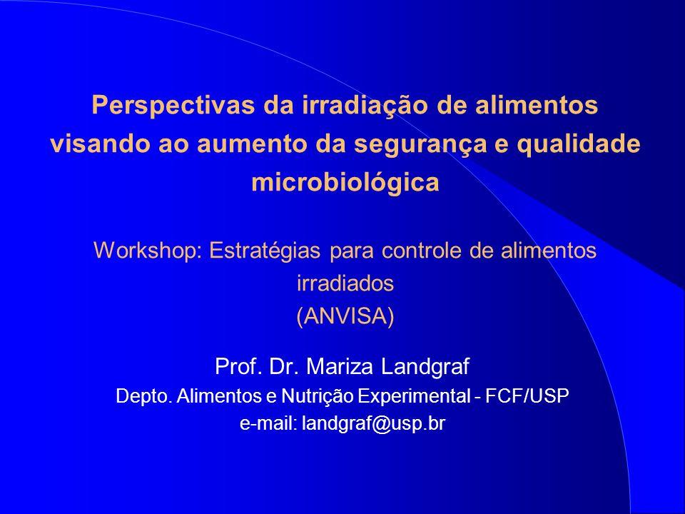 Perspectivas da irradiação de alimentos visando ao aumento da segurança e qualidade microbiológica Workshop: Estratégias para controle de alimentos irradiados (ANVISA)