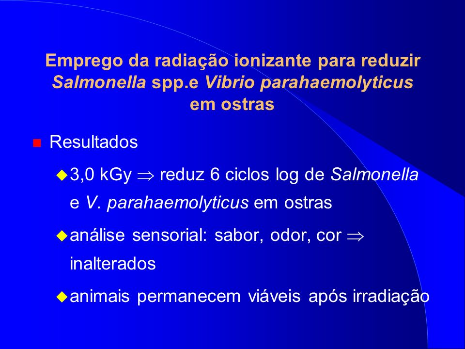 Emprego da radiação ionizante para reduzir Salmonella spp