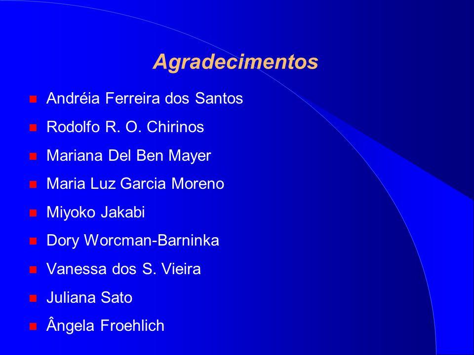 Agradecimentos Andréia Ferreira dos Santos Rodolfo R. O. Chirinos