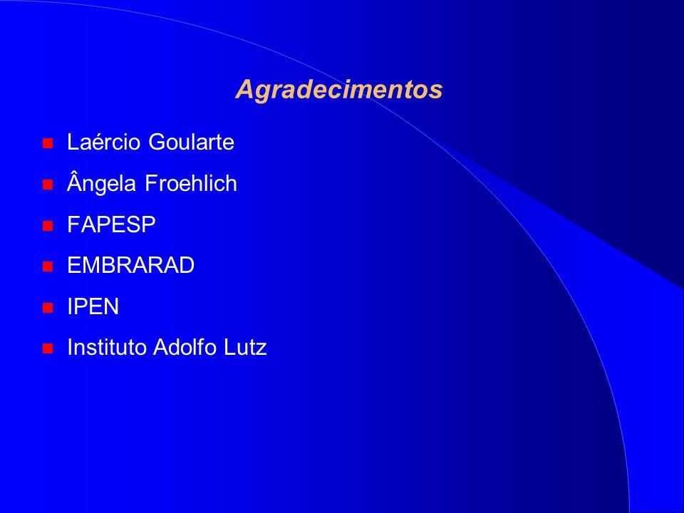 Agradecimentos Laércio Goularte Ângela Froehlich FAPESP EMBRARAD IPEN