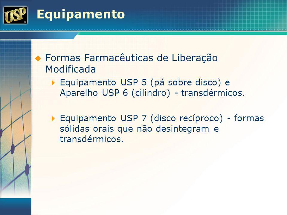 Equipamento Formas Farmacêuticas de Liberação Modificada